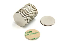 DISC MAGNET D20mm x 1mm ADHESIVE